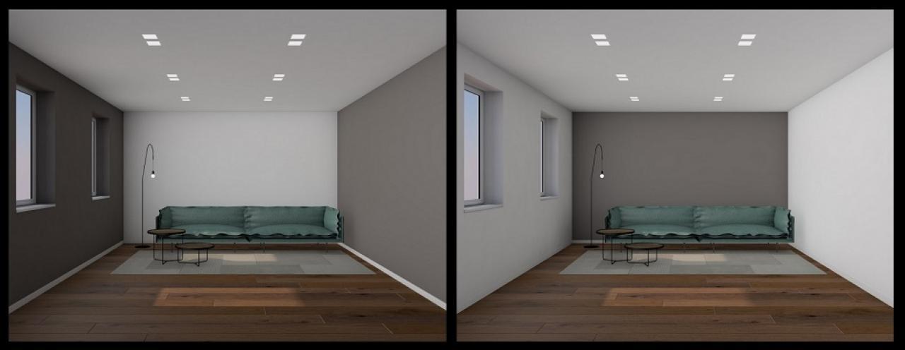 L'esposizione dell'alloggio alla luce naturale; Tinteggiare Le Pareti Interne Della Casa Fratelli Pellizzari
