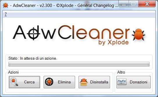 Eliminare toolbar e componenti aggiuntivi del browser con Adwcleaner