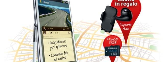 Samsung Galaxy Note 2: Supporto auto e microSD gratis