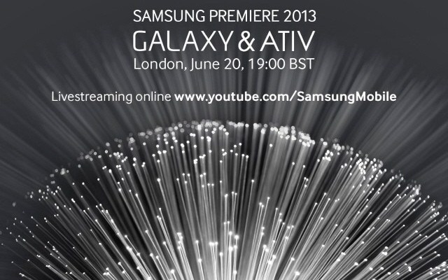 Samsung Premiere 2013 in diretta streaming su YouTube