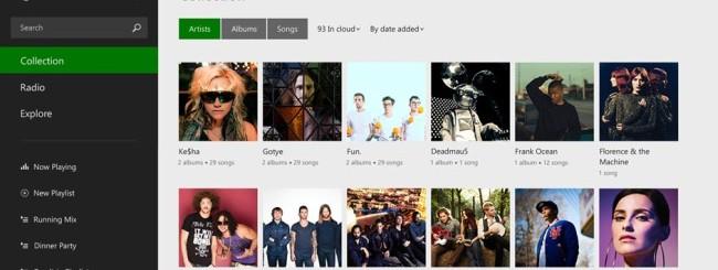 Windows 8.1: Applicazione Xbox Music