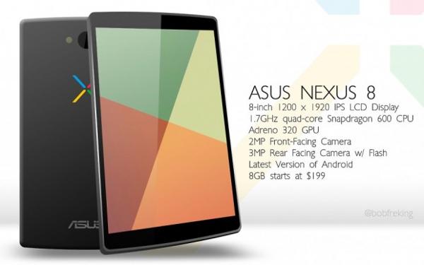 Nexus 8 e i primi rumors