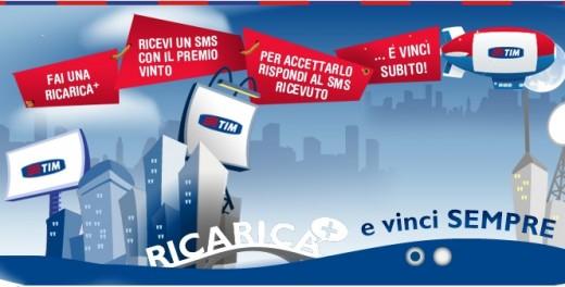 TIM: Concorso Ricarica+ e Vinci Sempre