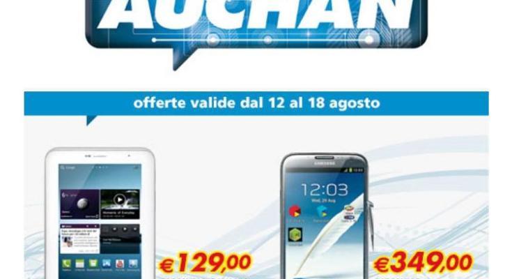 Samsung Galaxy Note 2 e Tab 2 in offerta da Auchan