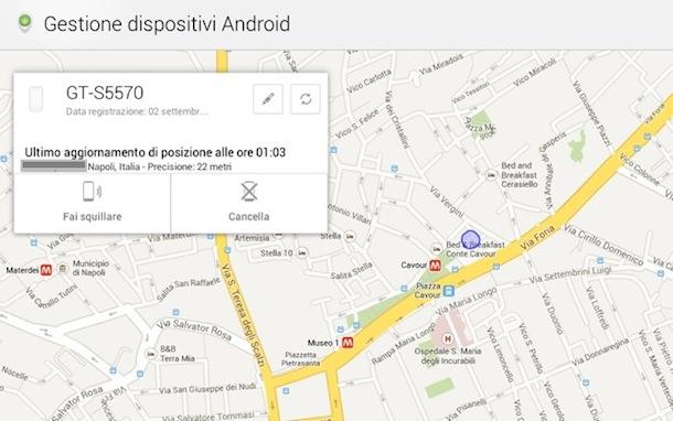 Bloccare, squillare e cancellare memoria smartphone Android via Internet