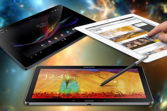 Confronto tra Galaxy Note 10.1 (2014), iPad 4 e Xperia Tablet Z