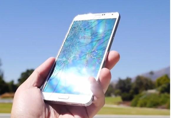 Samsung Galaxy Note 3: Video drop test