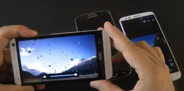 Video confronto tra LG G2, Samsung Galaxy S4 e HTC One