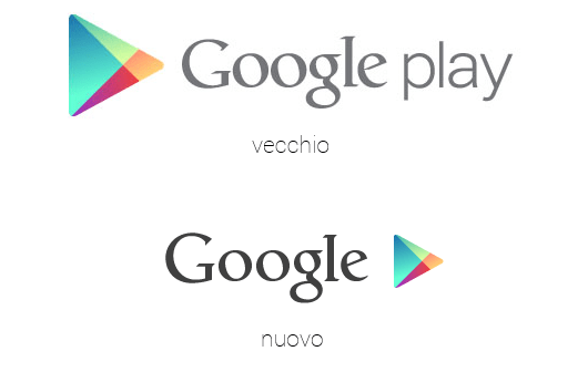 Logo Google Play senza parola Play