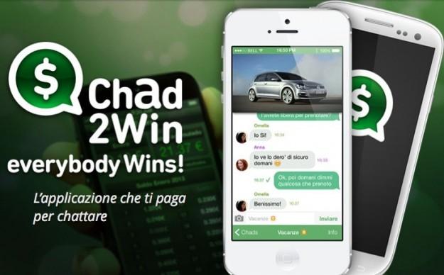 Chad2Win: Concorrente di WhatsApp che paga per ogni messaggio inviato