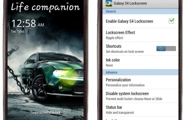 Installare lockscreen di Galaxy S4 e Note 3