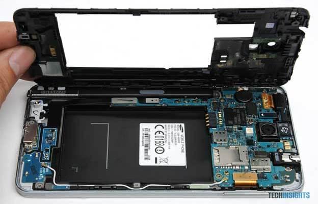 Samsung Galaxy Note 3, Galaxy S4 e Note 2: Costi produzione