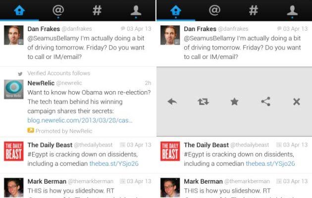 Twitter per Android: Nuova applicazione per tablet