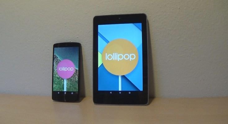 Android Lollipop aggiornamento