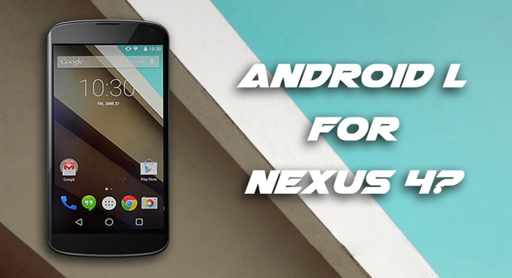 Android Lollipop Nexus 4