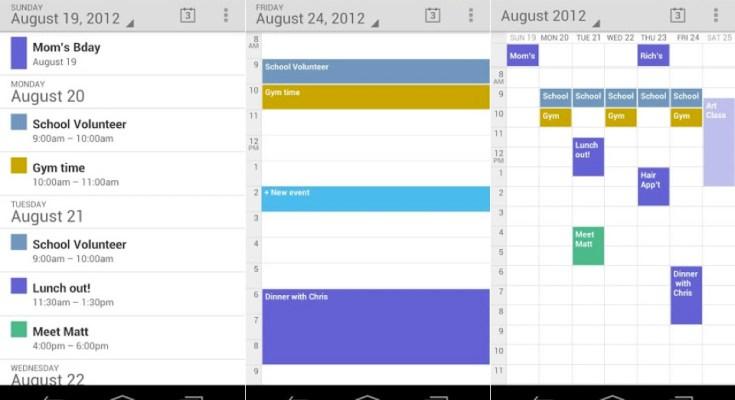 Google Calendar aggiornamento