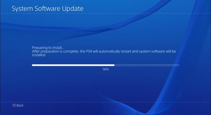 playstation 4 firmware update