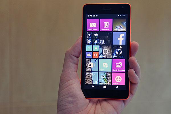 Lumia 535 touchscreen