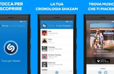 Shazam per Windows Phone