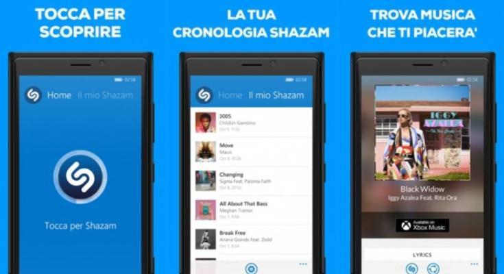 Shazam per Windows Phone