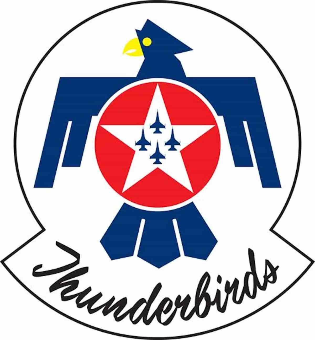 The USAF Thunderbirds demonstration team logo.  The script reminds me a little of that found on the Speedmaster.  (Credit: United States Air Force)