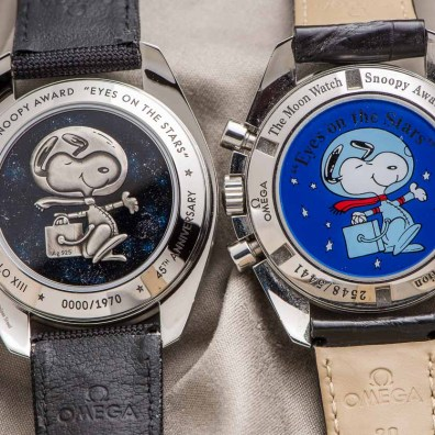 Omega Speedmaster Professional Silver Snoopy Award - caseback