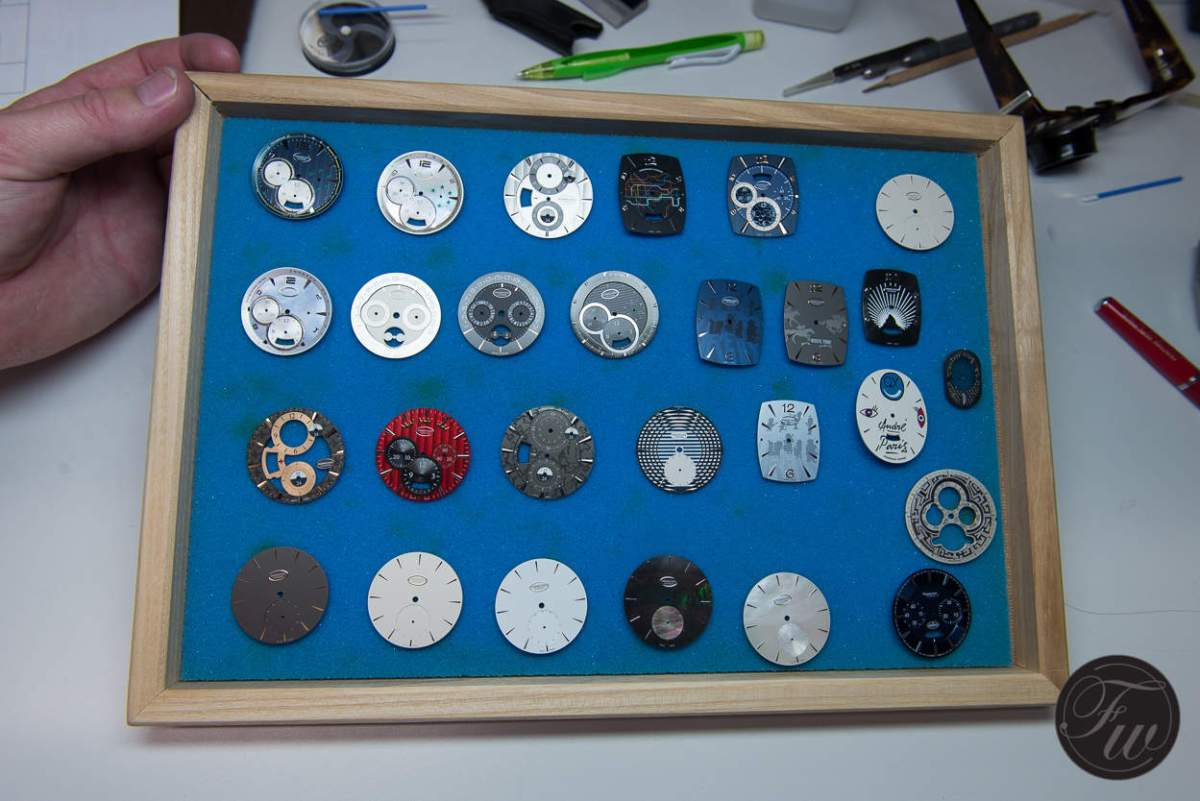 Various dials and exclusive models