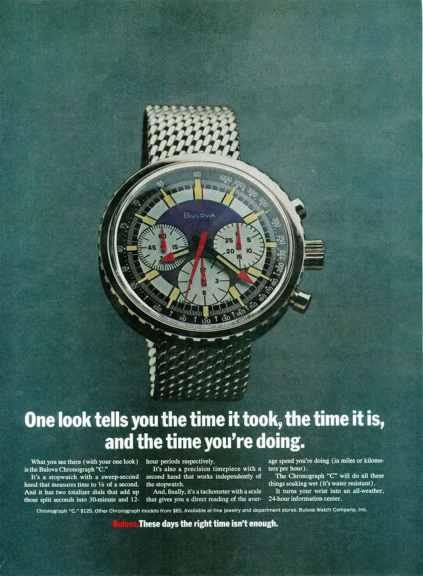The original Bulova Stars and Stripes advertisement