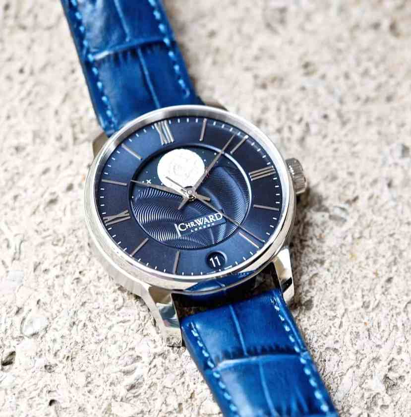 The Christopher Ward C9 Moonphase is multi-leveled