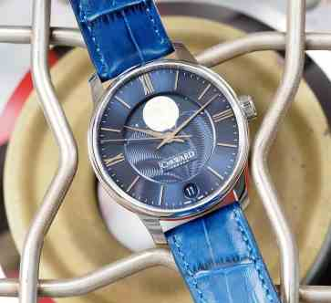 Christopher Ward C9 Moonphase dial plays to different lights