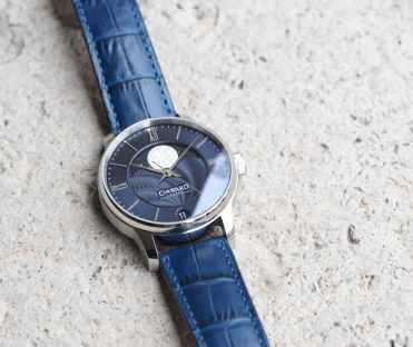 The Christopher Ward C9 Moonphase masks its thickness with a well styled and finished case