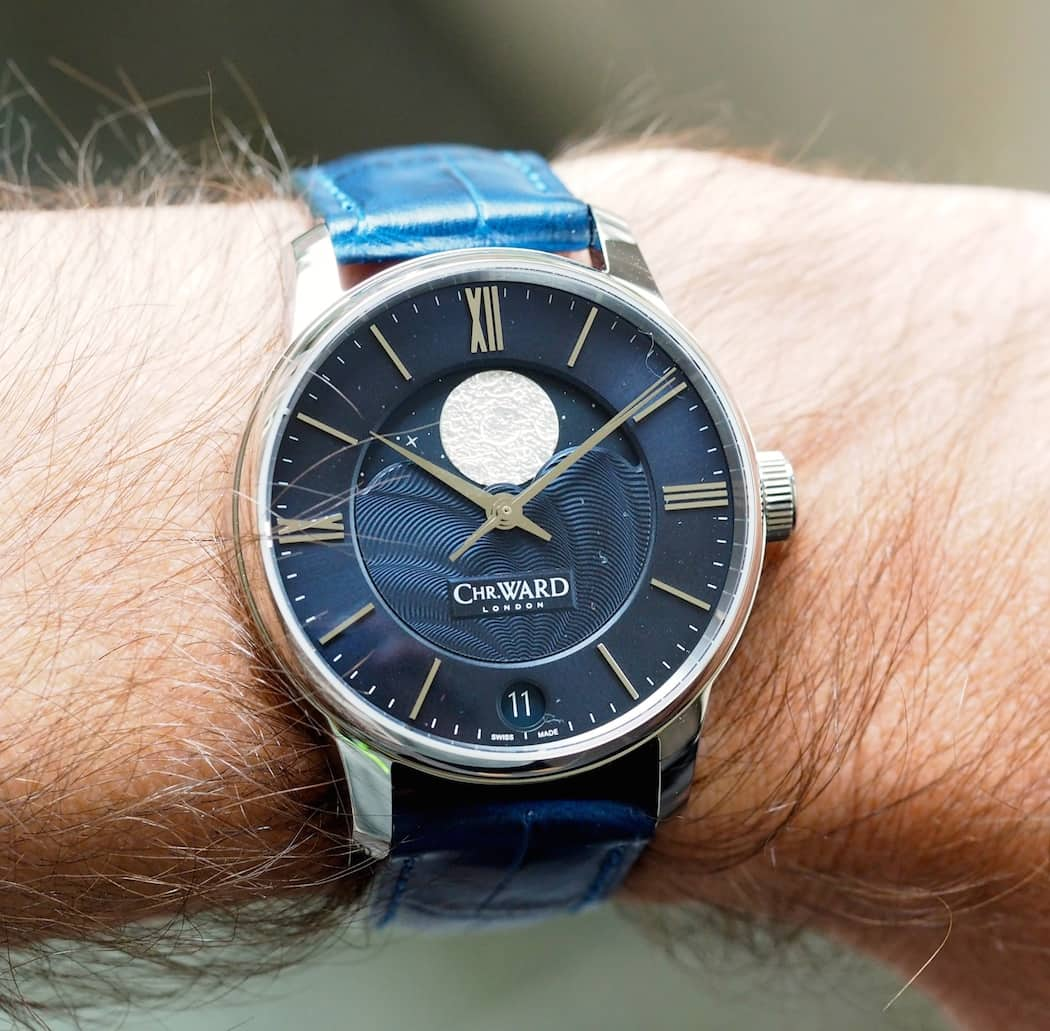 The Christopher Ward C9 Moonphase wears nicely on the wrist