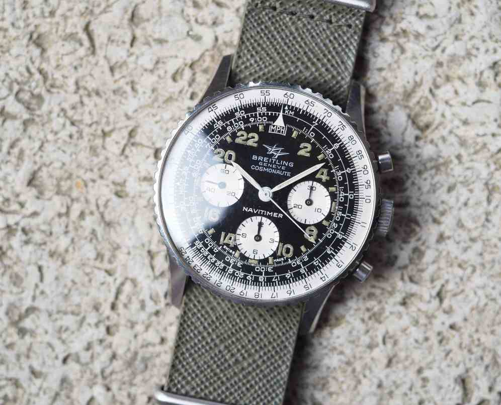 The Breitling 809 Cosmonaute is a unique offshoot from the Navitimer family
