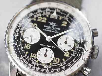 """This version of the Breitling 809 Cosmonaute contains the """"Navitimer"""" name"""