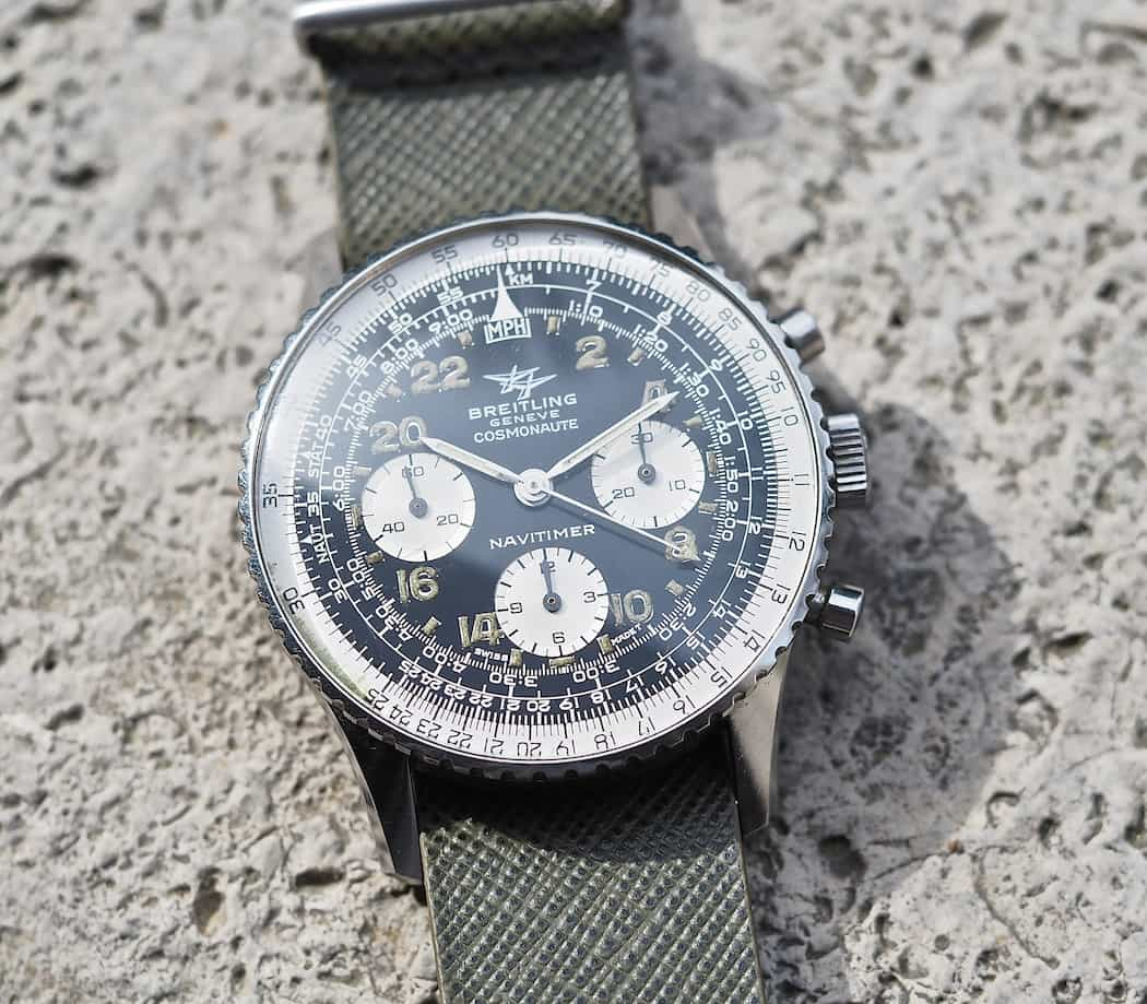 An early all-black version of the Breitling 809 Cosmonaute was worn by Scott Carpenter into space in 1962