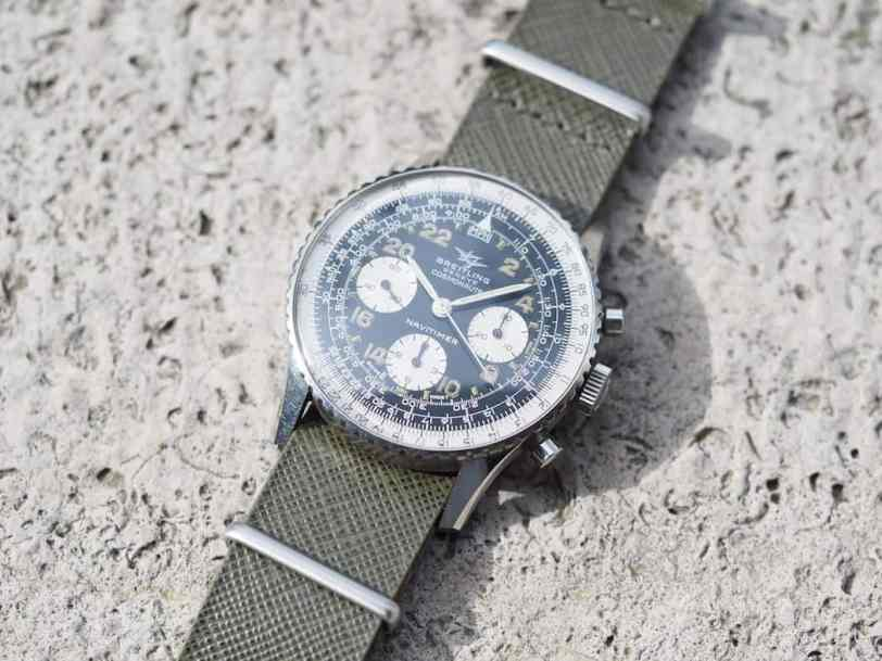 The strap on this Breitling 809 Cosmonaute was bought at a Fossil outlet - yep