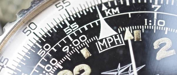 """Look at the serifs on """"MPH"""" on the Breitling 809 Cosmonaute dial!"""