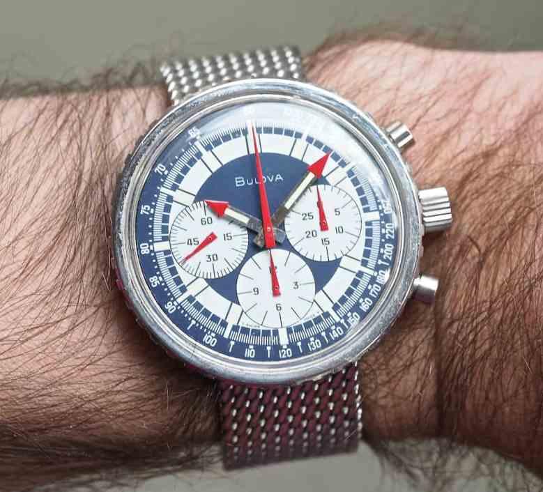 The Bulova Stars and Stripes on the wrist