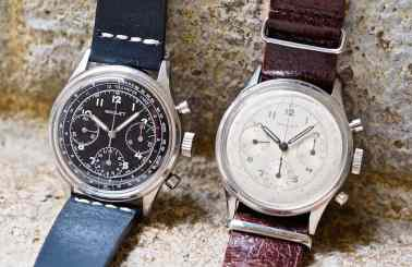 The Gallet Multichron 12 Valjoux 72's in black and white