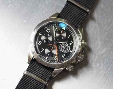 The Fortis Classic Cosmonauts sports a massive signed crown