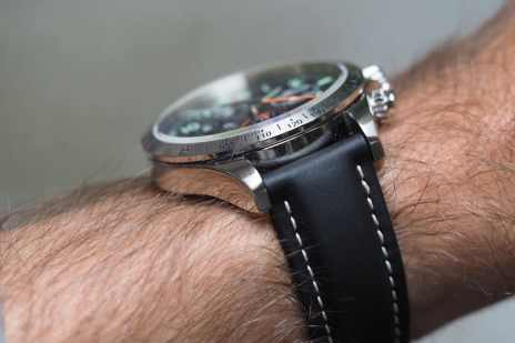 It's a reasonably tall watch, but the Fortis Classic Cosmonauts wears very comfortably