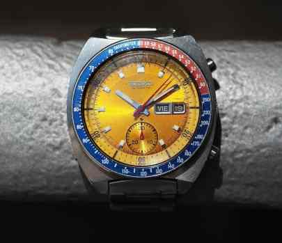 The bold colors of the Seiko 6139 Pogue make it a real favorite