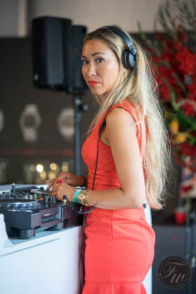 DJ during the Historic Grand Prix 2016: Miss Sugaware