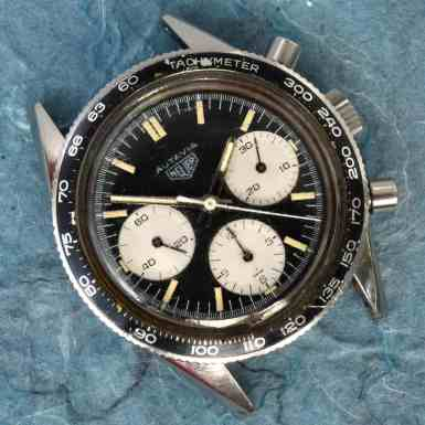 Heuer Autavia Lume Dial Head On 2