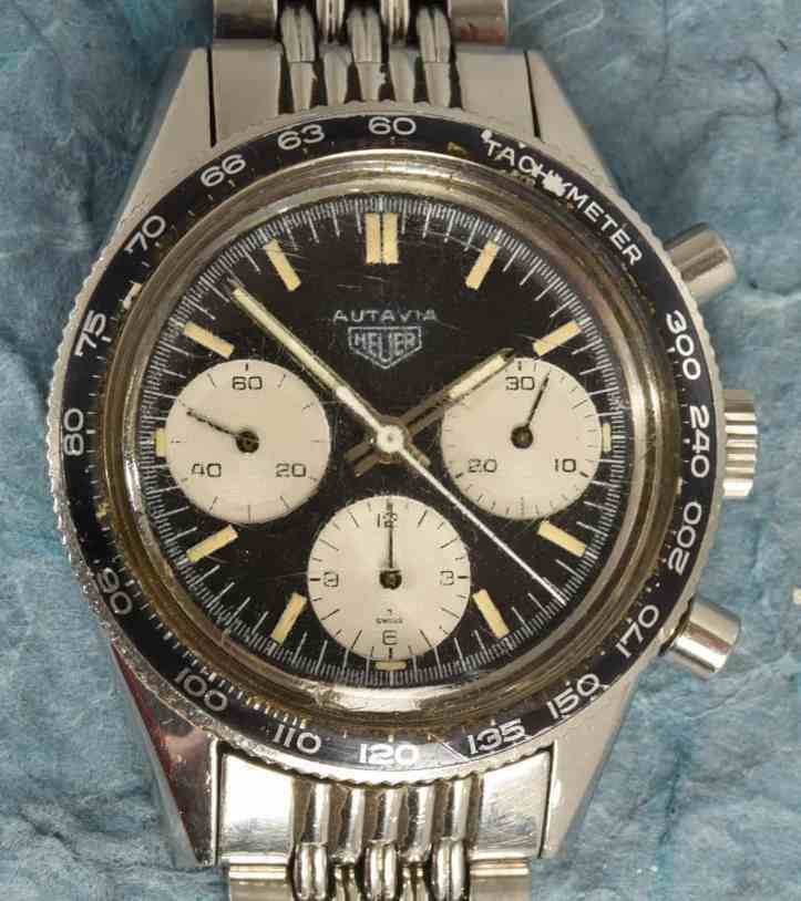 Heuer Autavia Lume Dial Head on