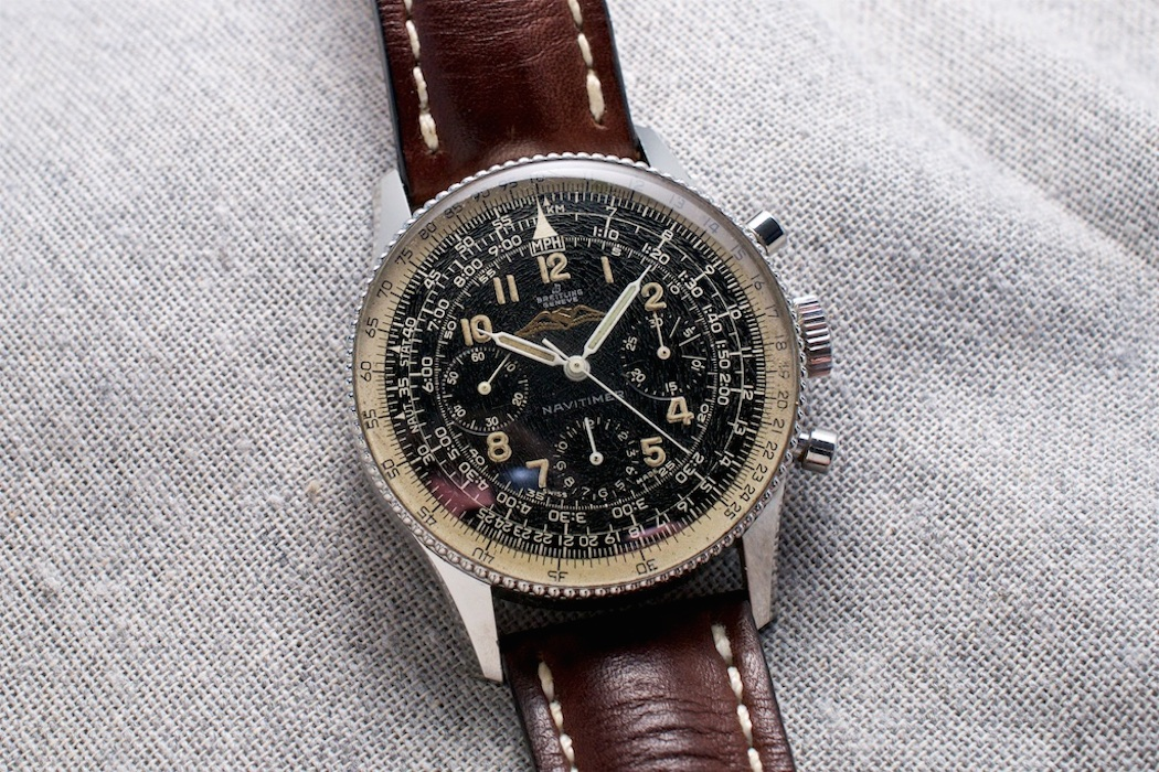 """A Breitling 806 """"All Black"""" from 1959 - they're still out there and relatively affordable versus the other four pieces."""
