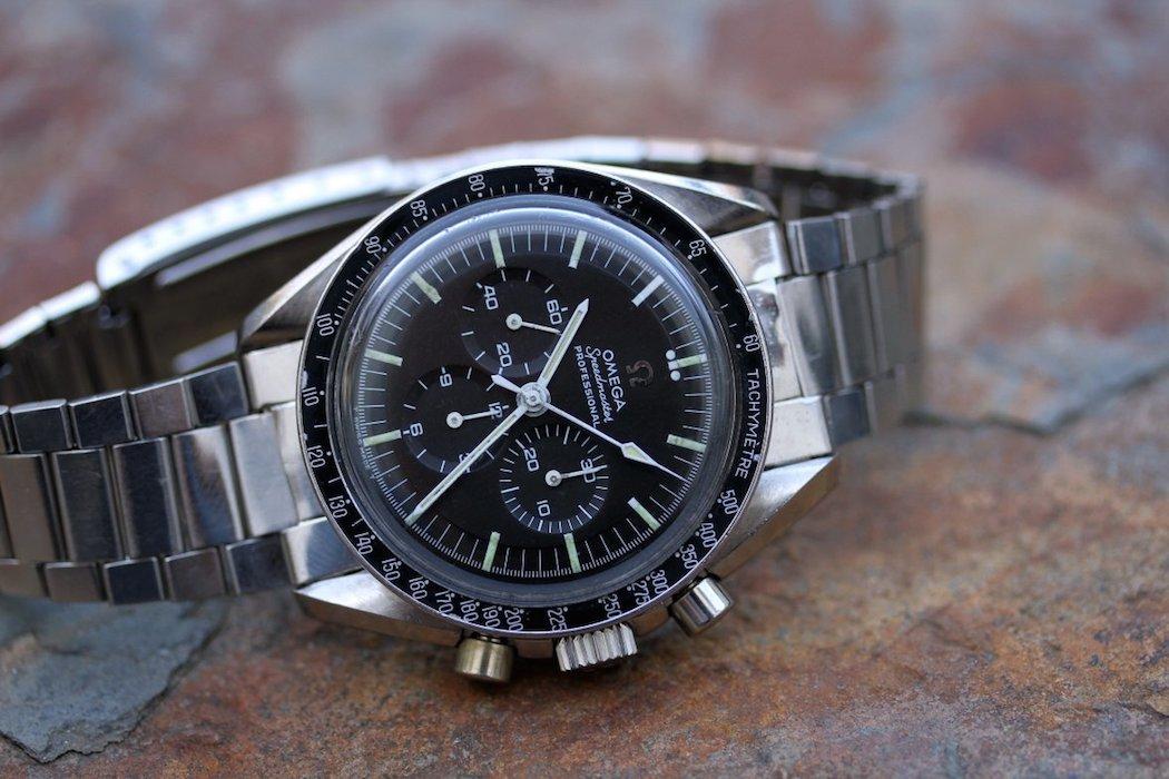 The Omega Speedmaster 145.012 as bought on its 1039 bracelet (photo credit: Lunar Oyster)