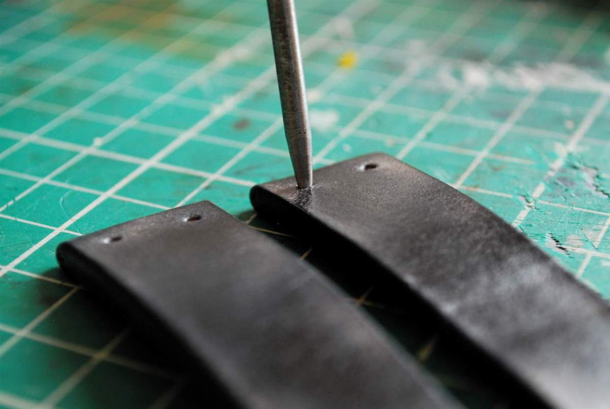 Punching holes on a BCatt watch strap