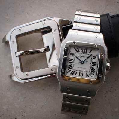 - Santos Galbée XL and belt buckle-