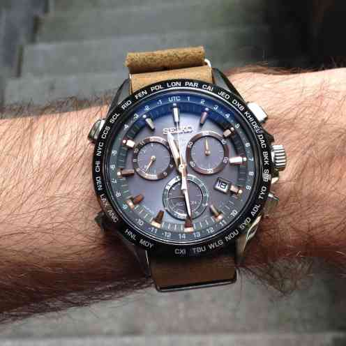 Seiko Astron on the wrist